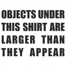 Objects are larger