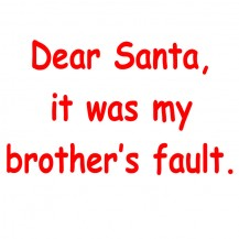 dear santa it's my brother's fault