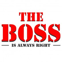 the boss is right