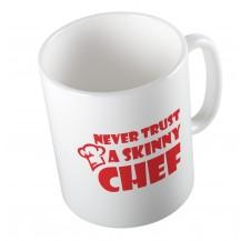 Κούπα Never Trust A Skinny Chef